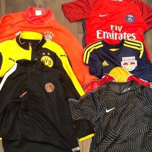 Other - Boys medium soccer jerseys and jackets